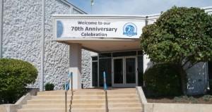 70th ann sign